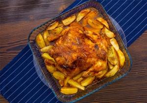 Fırında bütün tavuk tanımı