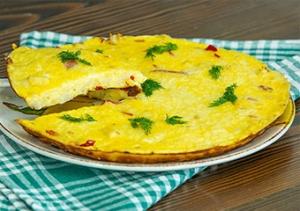 Karnabaharlı omlet tanımı